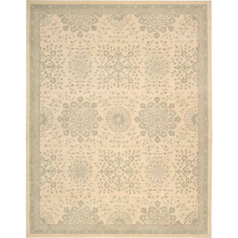 Nourison Royal Serenity SER02 Bone Wool Area Rug