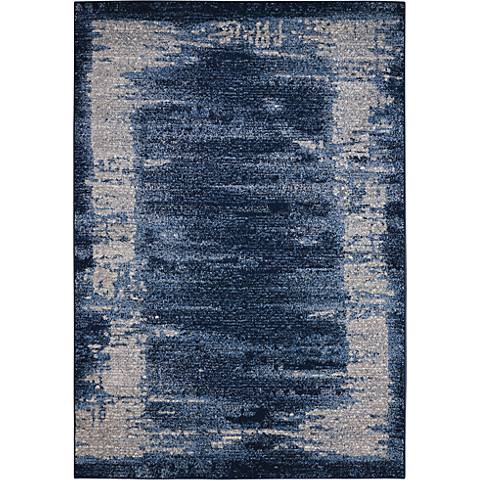 Kathy Ireland Illusion KI242 Blue Area Rug