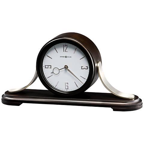 "Howard Miller Callahan 18""W Black Coffee Wood Mantel Clock"