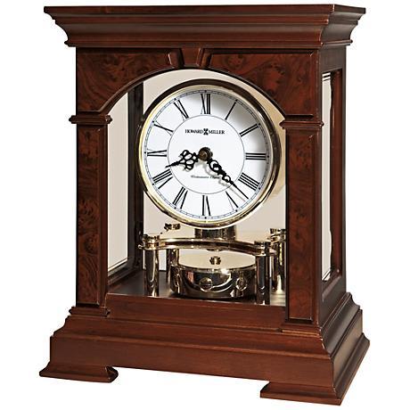 "Howard Miller Statesboro 11 3/4""H Cherry Mantel Clock"