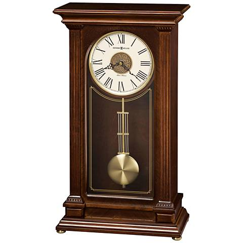 "Howard Miller Stafford 20"" High Cherry Mantel Clock"