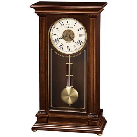 "Howard Miller Stafford 20"" High Cherry Mantel Clock"