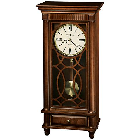 "Howard Miller Lorna 22 1/2"" High Tuscany Cherry Clock"