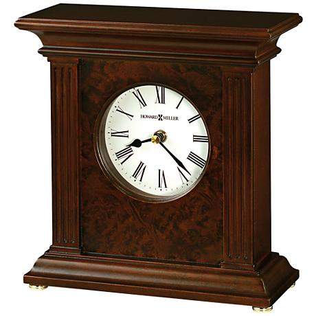 "Howard Miller Andover 9 1/4"" High Cherry Bordeaux Clock"