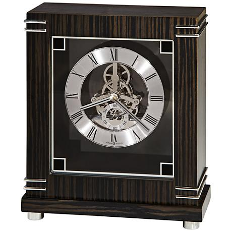 "Howard Miller Batavia 9"" High Macassar Ebony Mantel Clock"