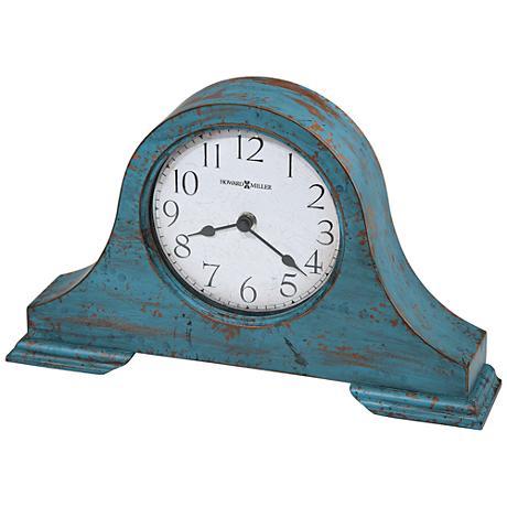 "Howard Miller Tamson 13 3/4"" Wide Worn Teal Blue Clock"