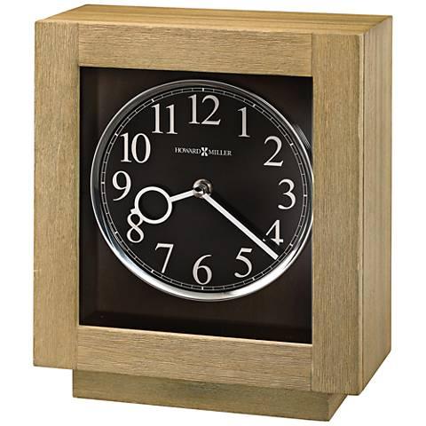 """Howard Miller Camlon 11"""" High Driftwood Modern Mantel Clock"""
