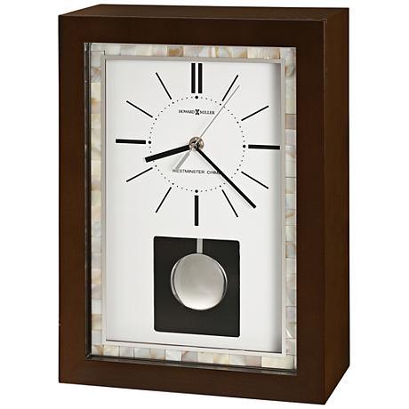"Howard Miller Holden 13 3/4"" High Espresso Mantel Clock"