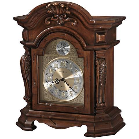 "Howard Miller Beatrice 17 3/4"" High Rustic Cherry Clock"