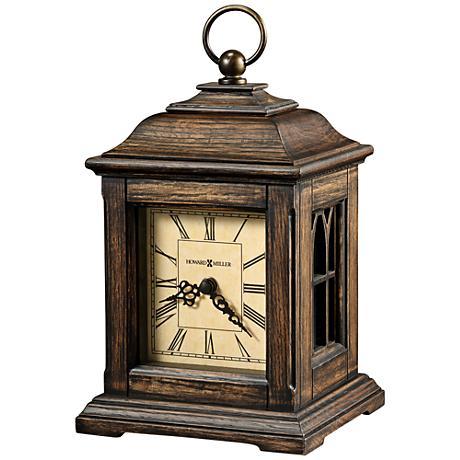 "Howard Miller Talia 9 1/4"" High Antique Oak Mantel Clock"