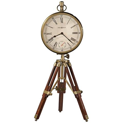 "Howard Miller Time Surveyor 26 1/4""H Rustic Cherry Clock"