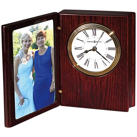 "Howard Miller Portrait Book II 6 1/2""H Rosewood Table Clock"