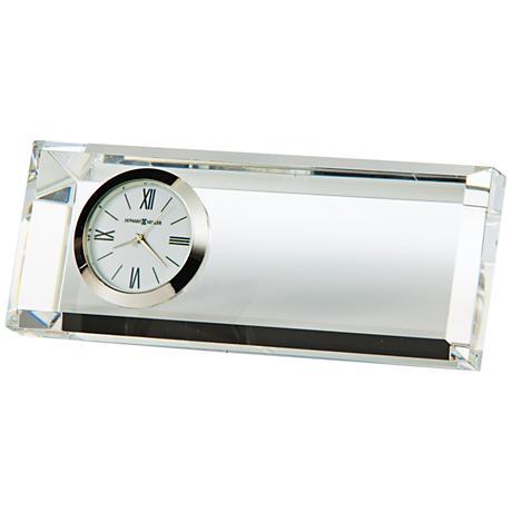 """Howard Miller Prism 5"""" Wide Optical Glass Crystal Clock"""