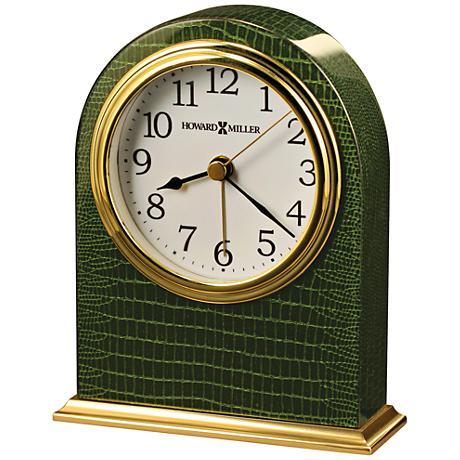 "Howard Miller Madison 5 1/4"" High Glossy Piano Green Clock"