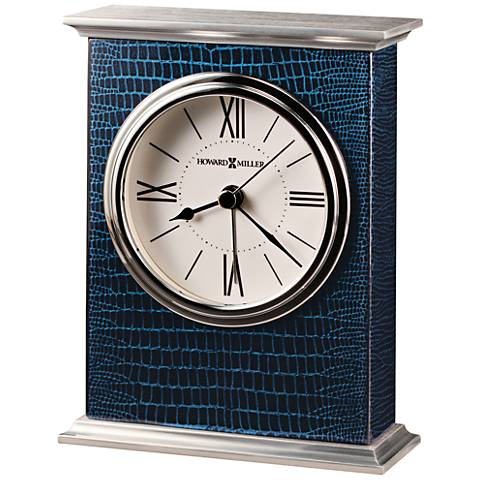 """Howard Miller Mission 5 1/2"""" High Glossy Piano Blue Clock"""