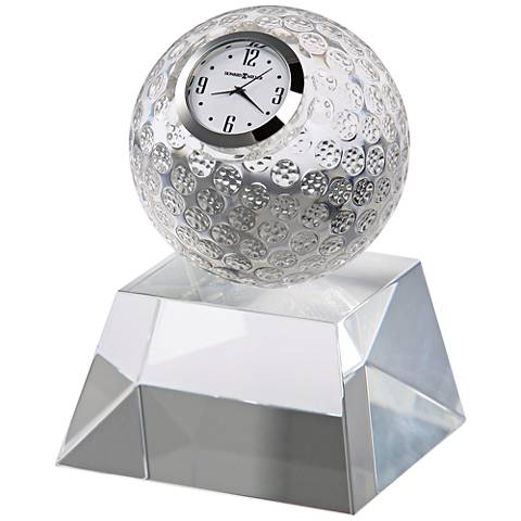 "Howard Miller Fairway 5"" High Crystal Golf Ball Table Clock"