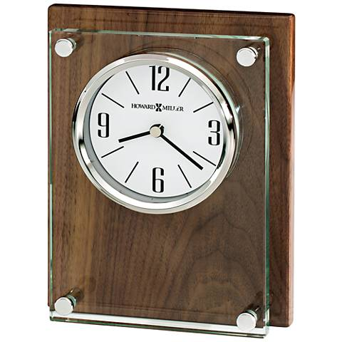 "Howard Miller Amherst 6 3/4"" High Glossy Walnut Clock"