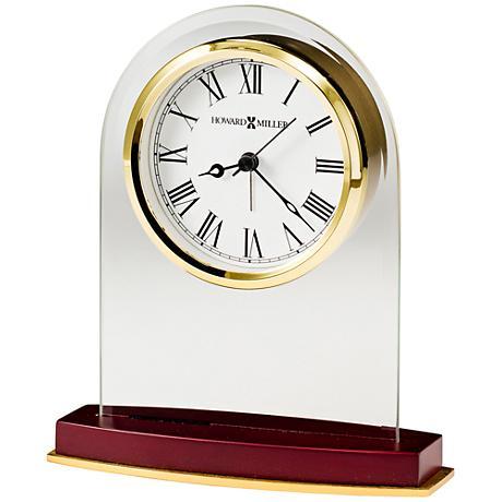 """Howard Miller Anson 6 3/4"""" High Rosewood Executive Clock"""