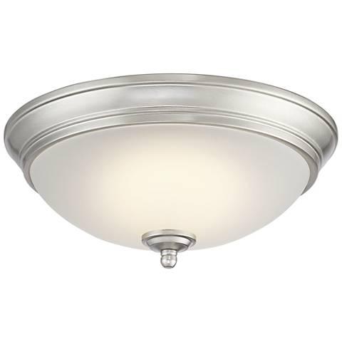 """Melana 10 3/4"""" Wide Brushed Nickel LED Ceiling Light"""