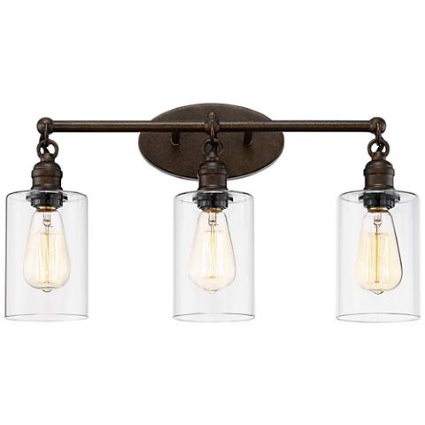 "Cloverly 21 3/4"" Wide 3-Light Bronze Bath Light"