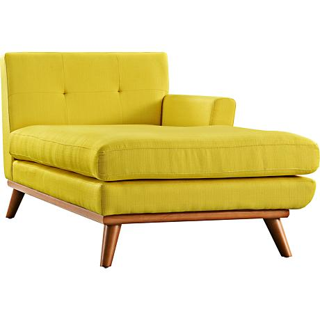 Engage Sunny Fabric Tufted Right-Arm Chaise
