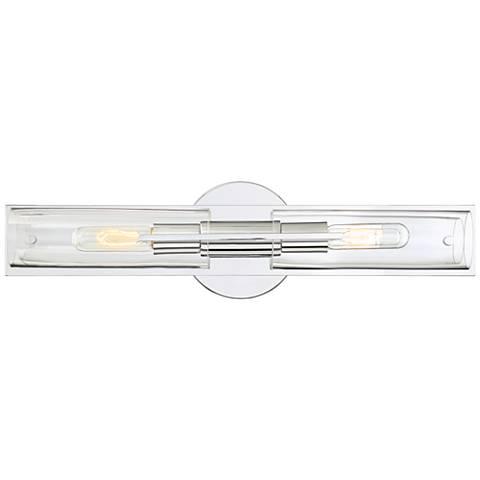 "Possini Euro Pax 23 3/4"" Wide 2-Light Chrome Bath Light"