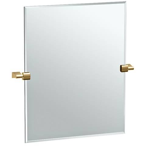 """Gatco Bleu Matte Brass 24"""" x 19 1/2"""" Rectangle Mirror"""