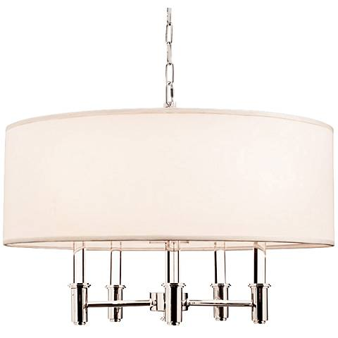 "DuPont 26"" Wide Chrome Convertible Round Pendant Light"