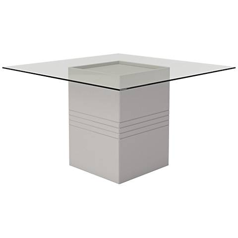 Perry 1.8 Off-White Square Wood Dining Table