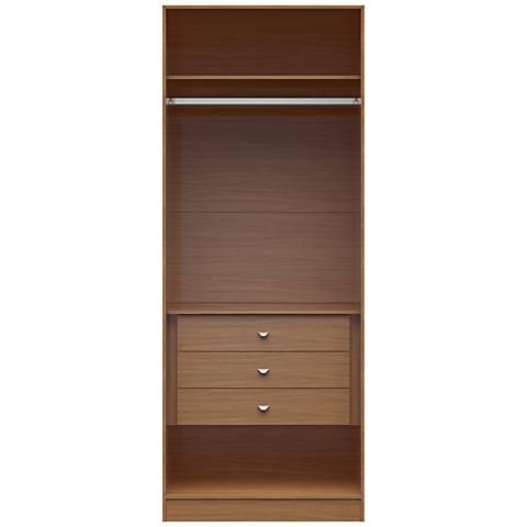 Chelsea 2.0 Maple Cream Wood Basic Wardrobe Closet