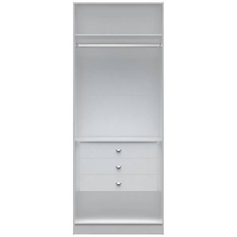 Chelsea 2.0 White Wood Basic Wardrobe Closet