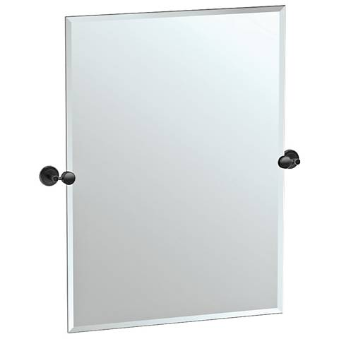 "Latitude II Black 27 3/4"" x 31 1/2"" Rectangle Mirror"