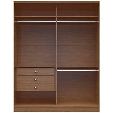 Chelsea 2.0 Maple Cream Wood Double Basic Wardrobe Closet