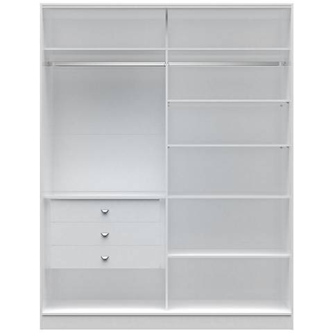 Chelsea 2.0 White Wood Full Wardrobe Closet
