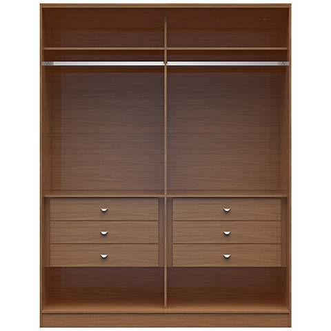 Chelsea 2.0 Maple Cream Wood He/She Wardrobe Closet