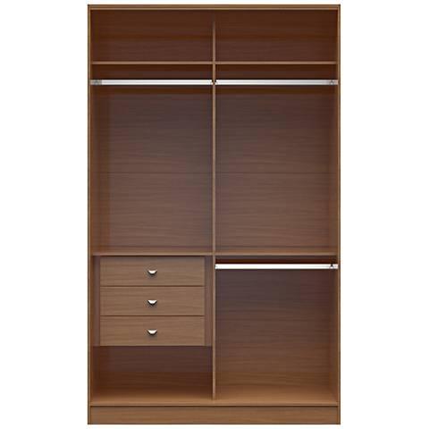Chelsea 1.0 Maple Cream Wood Double Basic Wardrobe Closet