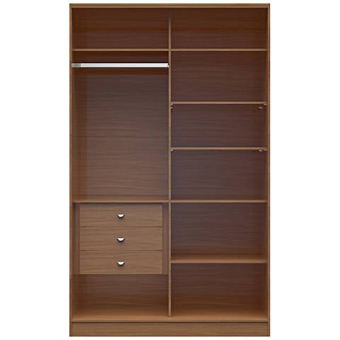 Chelsea 1.0 Maple Cream Wood Full Wardrobe Closet