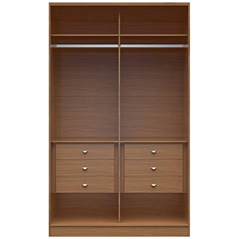 Chelsea 1.0 Maple Cream Wood He/She Wardrobe Closet