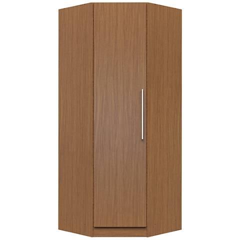 Chelsea Maple Cream Wood 1-Door Double Hanging Corner Closet
