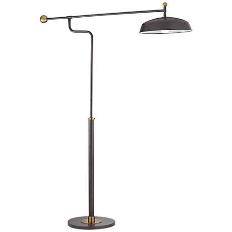 Modernica Gun Metal Downbridge Floor Lamp