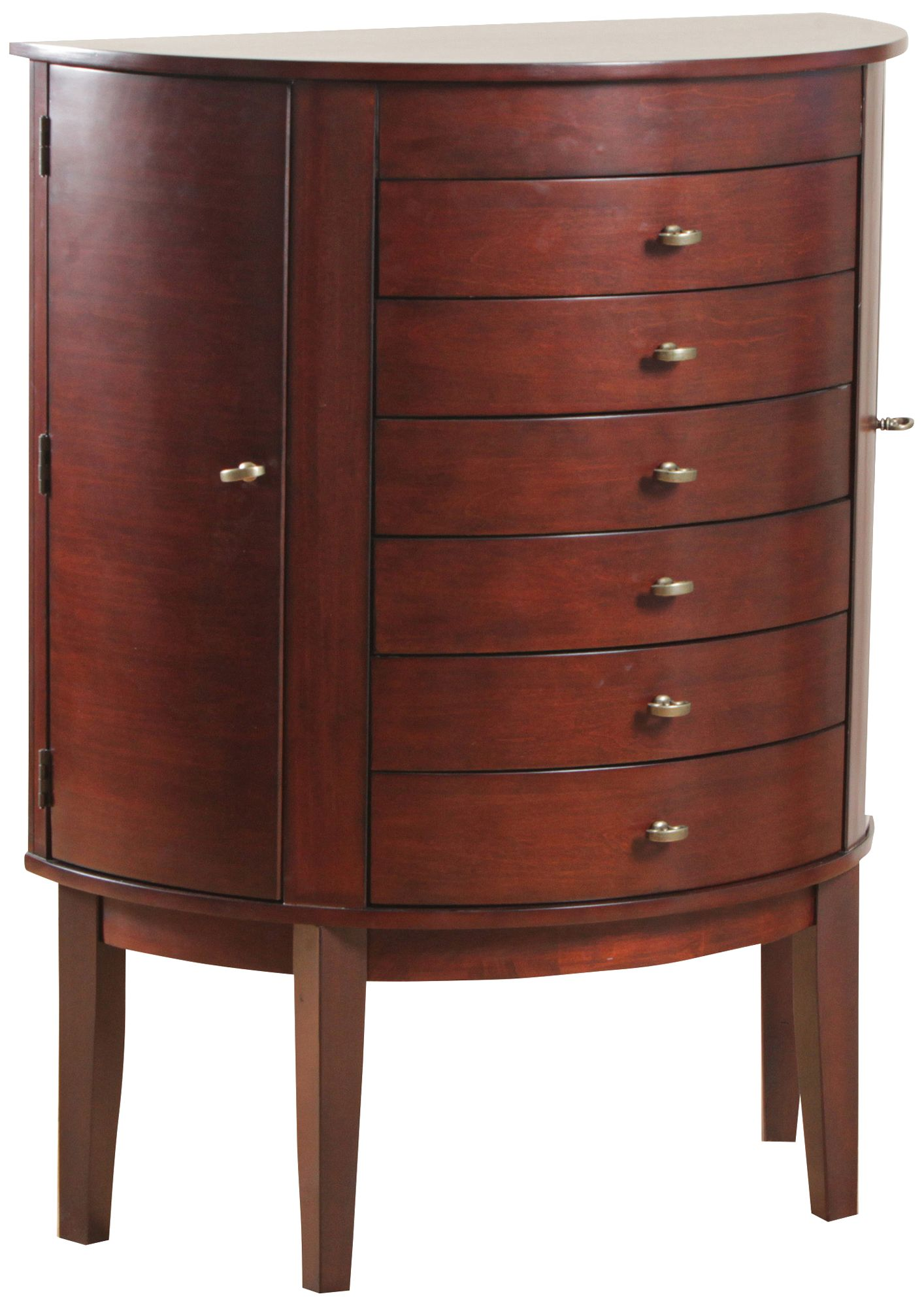 Lief Antique White 5Drawer LiftTop Jewelry Armoire 9X948