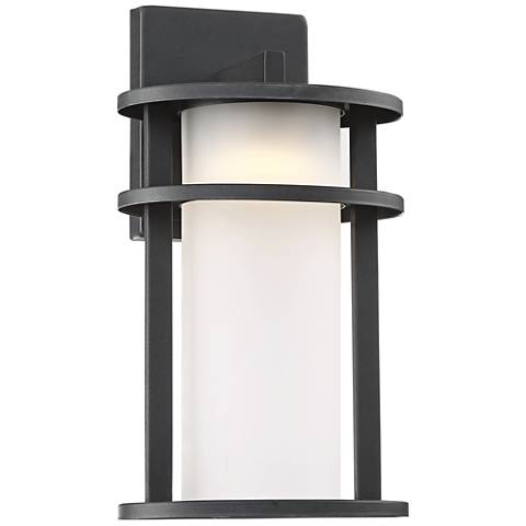 "Aline 13"" High Black LED Outdoor Wall Light"