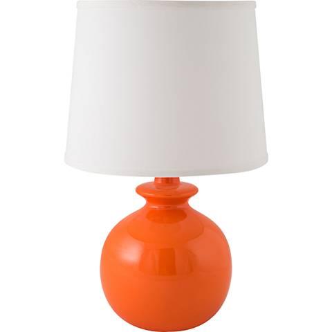 RiverCeramic® Bristol Gloss Orange Nectar Table Lamp