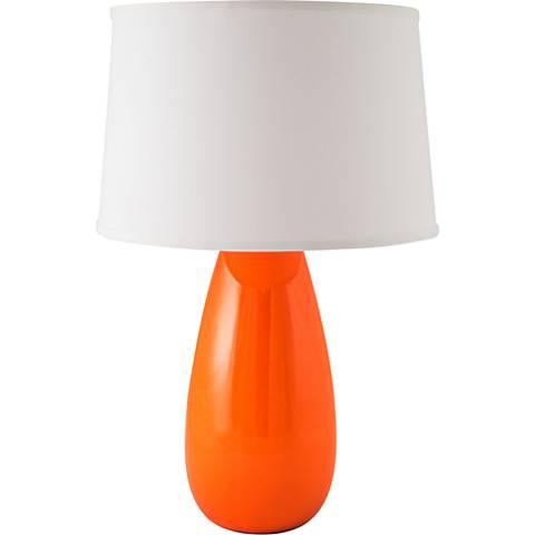 RiverCeramic® Teardrop Gloss Paprika Mini Table Lamp