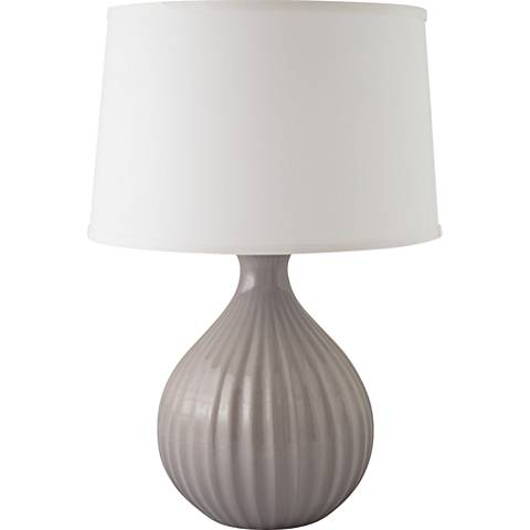 RiverCeramic® Sprout Gloss Swanky Gray Table Lamp