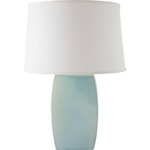 RiverCeramic® Soft Rectangle Gloss Mist Gray Table Lamp