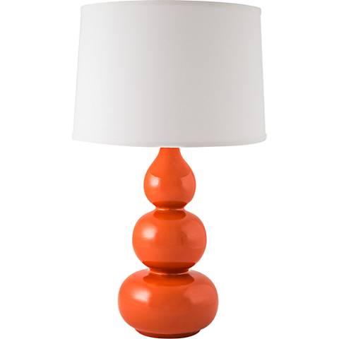 RiverCeramic® Triple Gourd Gloss Paprika Table Lamp