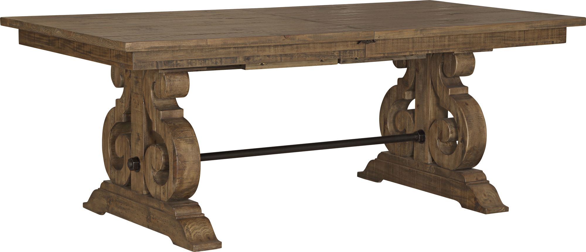 Willoughby Weathered Barley Extendable Wood Dining Table