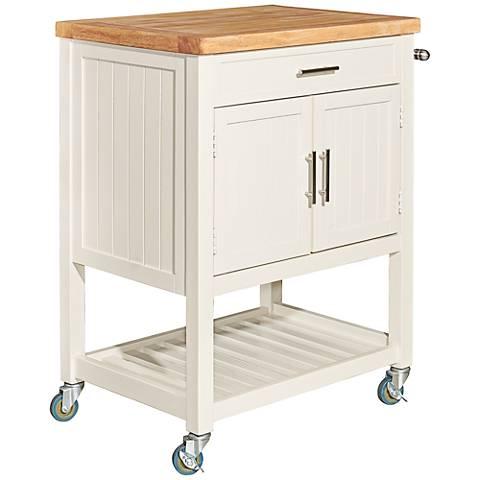 Sydney White Wood Kitchen Cart