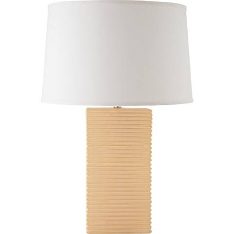 RiverCeramic® Layered Texture Bone Pearl Table Lamp